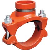 Victaulic FireLock™ Style 920 6 x 6 x 2-1/2 in. Grooved Painted Mechanical Reducing Tee VCE65920PE1