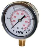 FNW® 200 psi Liquid Filled Pressure Gauge FNWLFG0200L