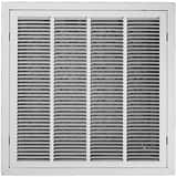 PROSELECT® 20 x 20 in. Filter Grill T Bar With Insert 1/3 in. Fin White PSFGTBIW2020