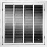PROSELECT® 20 x 20 Filter Grill T Bar 1/3 in. Fin White PSFGTBW2020