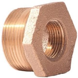 Merit Brass MNPT x FNPT Brass Reducing Bushing BRLFBD
