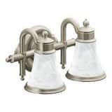 Moen Waterhill™ 2-Bulb Globe Bath Light in Brushed Nickel MYB9862BN