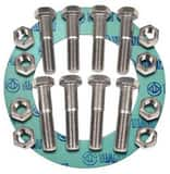 FNW® 5 in. 150# Zinc Non-Asbestos 1/16 Ring Gasket Nut, Bolt, Gasket Set FNWNBGZ1NAR6S