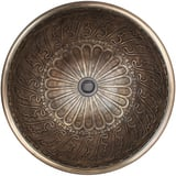 Linkasink 17 x 17 in. 1-Bowl Vessel Mount or Drop-in Round Lavatory Sink with Center Drain in Antique Bronze LB005AB