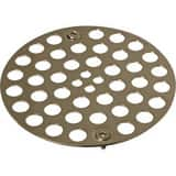 Signature Hardware 4 in. OD Shower Strainer in Polished Nickel SH601PN