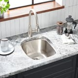 Mirabelle® Calverton 15 x 17 in. Single Bowl Undermount Sink No Hole MIRUC1517