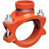Victaulic FireLock™ Style 920 4 x 4 x 3 in. Grooved Painted Mechanical Reducing Tee VCD44920PE1