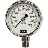 WIKA Bourdon 2-1/2 in. -30 hg 0 psi 1/4 in. MNPT Glycerin Filled Pressure Gauge Lead Free W9831784 at Pollardwater