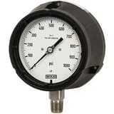 WIKA XSEL™ 4-1/2 in. 100 psi 1/4 in. MNPT Glycerin Filled Pressure Gauge Lead Free W9833833 at Pollardwater