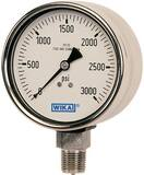 Wika Instrument Bourdon 3-49/50 in. Liquid Filled Industrial Gauge W9361