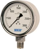 Wika Instrument Bourdon 3-49/50 in. Liquid Filled Industrial Gauge W9361