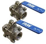 FNW RTFE Valve Repair Kit for FNW 310A and 311A Series Carbon Steel Ball Valves FNW310ARK