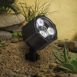 Kichler Lighting Accent 4.5W 3-Light LED Landscape Flood Light in Textured Black KK15733BKT