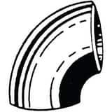 PROFLO Extra Heavy Carbon Steel Short Radius Weld 90 Degree Elbow PWXSR9