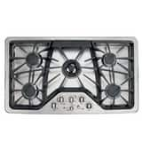 General Electric Appliances Cafe™ 36 x 3-1/4 in. 5-Burner Natural Gas Cooktop in Stainless Steel GCGP650SETSS