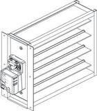 American Standard HVAC ZDAMP 8 x 12 in. Rectangular Damper with Side Mount Actuator AZDAMPSMMA1208A