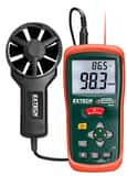 Extech Instruments 2-3/4 in. CFM/CMM Thermo-Anemometer with Infrared Thermometer EAN200