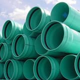 42 in. PVC Gasket Joint Pipe in Green DR25GP42
