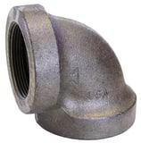 Threaded Galvanized Cast Iron 90 Degree Elbow GD9