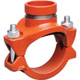 Victaulic FireLock™ Style 920 4 x 4 x 1-1/2 in. Grooved Painted Mechanical Reducing Tee VCD2592NPE1