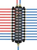 Viega ManaBloc® Model V5630 160 psi Polymer PEX Press Valve Manifold V4933