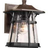 Progress Lighting Derby 11-1/4 in. 100W 1-Light Outdoor Wall Lantern in Espresso PP575084