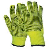 West Chester L Size Plastic String Knit Gloves with PVC Dots E14395