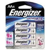 Energizer Battery Manufacturing 1.5V AA Lithium Battery EL91BP4