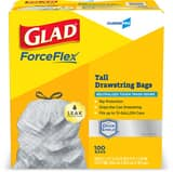 GLAD ForceFlex® 28 x 24 in. 13 gal Tall Kitchen Bag in White C70427