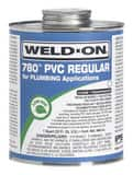 Weld-On® 780™ 1 qt Fast Set Plastic Clear Pipe Cement I14001