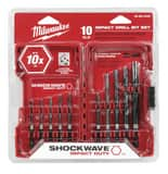 Milwaukee 10-Piece Black Oxide Hex Drill Bit M48894445