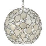 Crystorama Lighting Crystal 60W 6-Light Medium E-26 Base Sphere Chandelier in Antique Silver C529SA