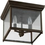 Capital Lighting Fixture Outdoor 8-1/2 in. 3-Light Outdoor Ceiling Fixture in Old Bronze C9546OB