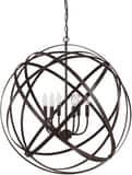 Capital Lighting Fixture Axis 30-1/2 in. 60W 6-Light Pendant in Russet C4236RS