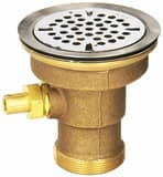 Fisher Drain Waste Valve with Flat Strainer in Stainless Steel F65676