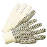 Anchor L Size PVC-Dotted Canvas and Plastic Gloves ANR1005