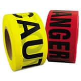 Plastic Danger Barrier Tape in Black and Red (Case of 8) BRY700022P