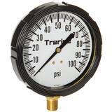 H.O. Trerice 800LFB Series 3-1/2 x 1/4 in. 60 psi Plastic-Brass Pressure Gauge T800LFB3502LA100