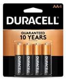 Duracell Coppertop® Size AA Batteries 4-Pack DMN1500B4PK