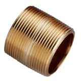 1/2 in. Close Threaded Domestic Brass Nipple DBRNCL