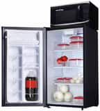 Microfridge Snackmate 17-13/16 in. 3.3 cf Refrigerator with Microwave Combination in Black M34SM7TP