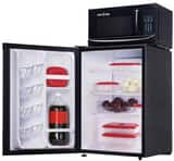 Microfridge Snackmate 17-13/16 in. 2.5 cf Refrigerator with Microwave Combination in Black M25SM7TP