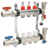 Qest Stainless Steel Heating Manifold with Flowmeter QQHPMS