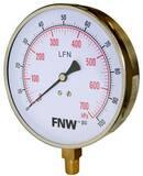 FNW® 4-1/2 in. Pressure Gauge Brass 0 - 30# FNWXG030R