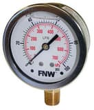 FNW® 2-1/2 in. Low Lead Liquid Filled Gauge 0-30# FNWXLFG030L