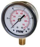 FNW® 60 psi Liquid Filled Pressure Gauge FNWXLFG060L