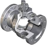 WKM 2 in. 600 psi Forged Steel Flanged Left Hand Ball Valve WB114CS43CSWRK