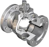 WKM 3 in. 300# Carbon Steel Full Port Nace Firesafe Ball Valve with Wall Ring WB128CS242S2WRM