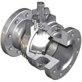 WKM 4 in. 150 psi Flanged Carbon Steel Full Port Left Hand Ball Valve WB110CS242S1WRP