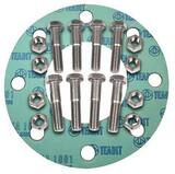 FNW® 6 in. 150# Zinc Non-Asbestos 1/16 Full Face Nut, Bolt, Gasket Set FNWNBGZ1NAF6U